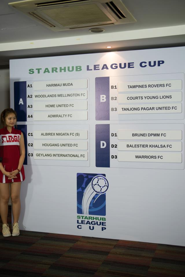Starhub League Cup Draw: Hougang to face Albirex Niigata and Geylang.