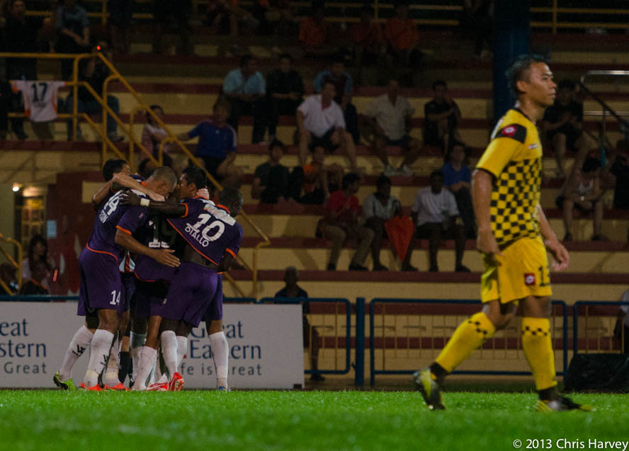 Hougang thumped DPMM for fourth straight home win.