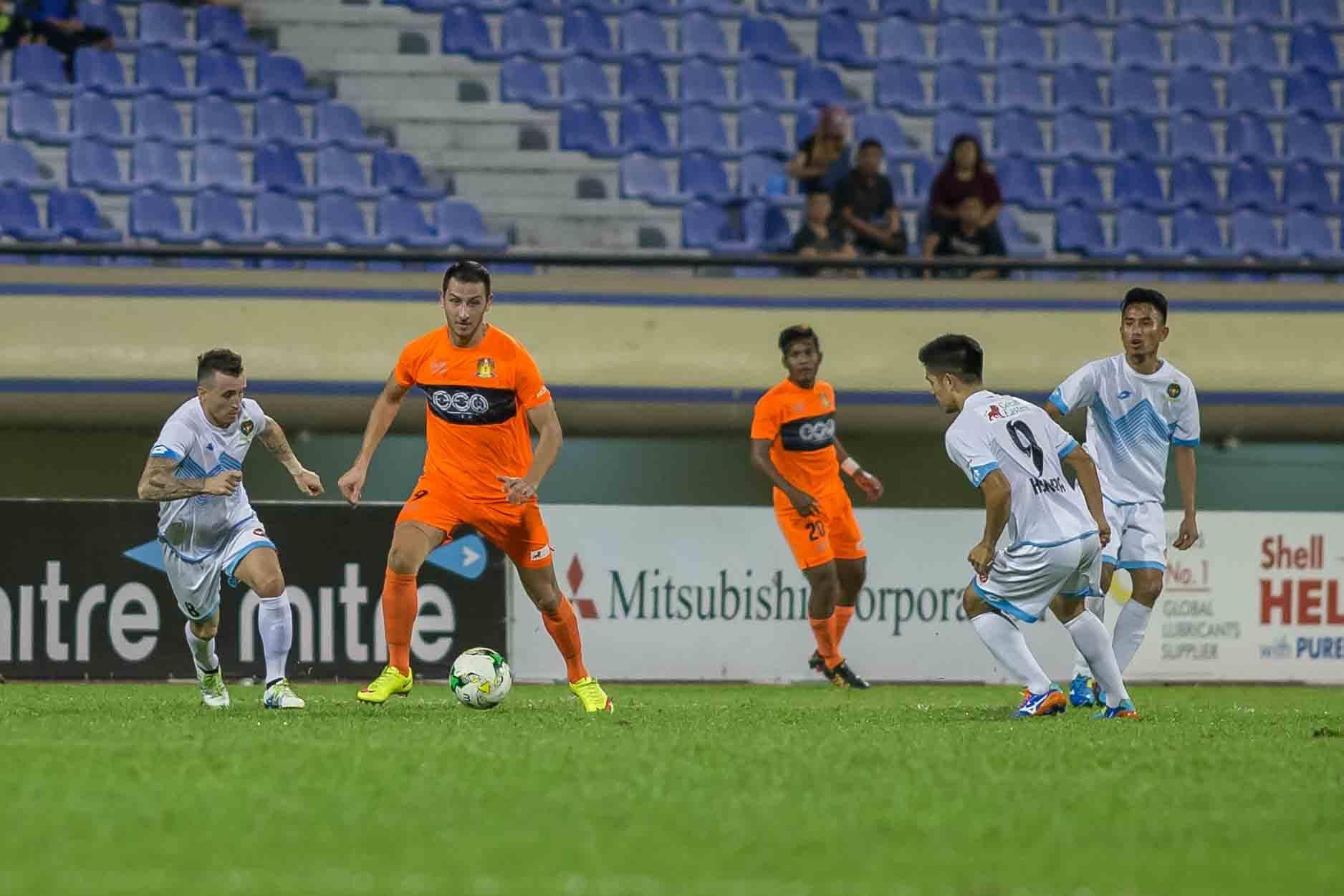 Stipe Plazibat scoring his 8th goal of the season via a direct free-kick.