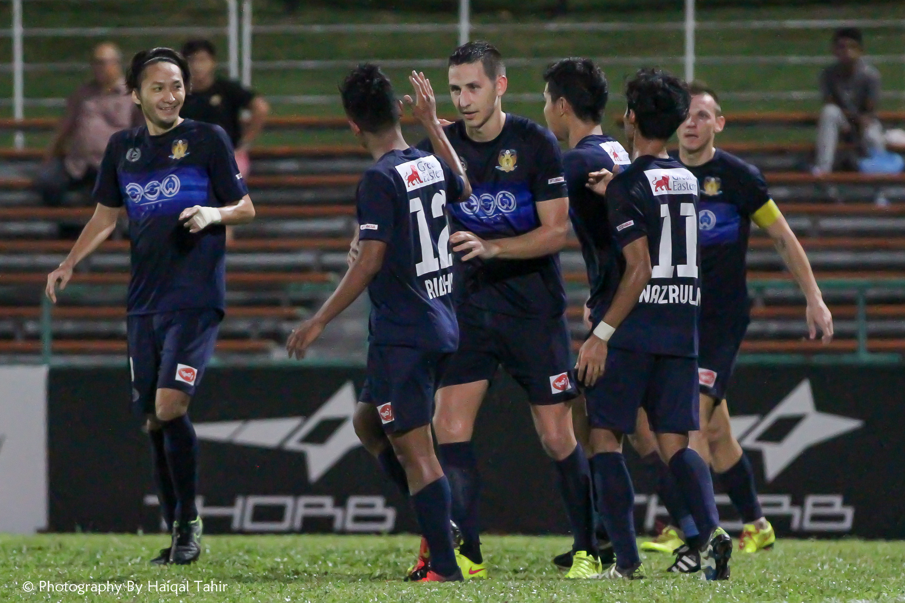 Stipe Plazibat celebrating with his team mates after scoring the 2nd goal.