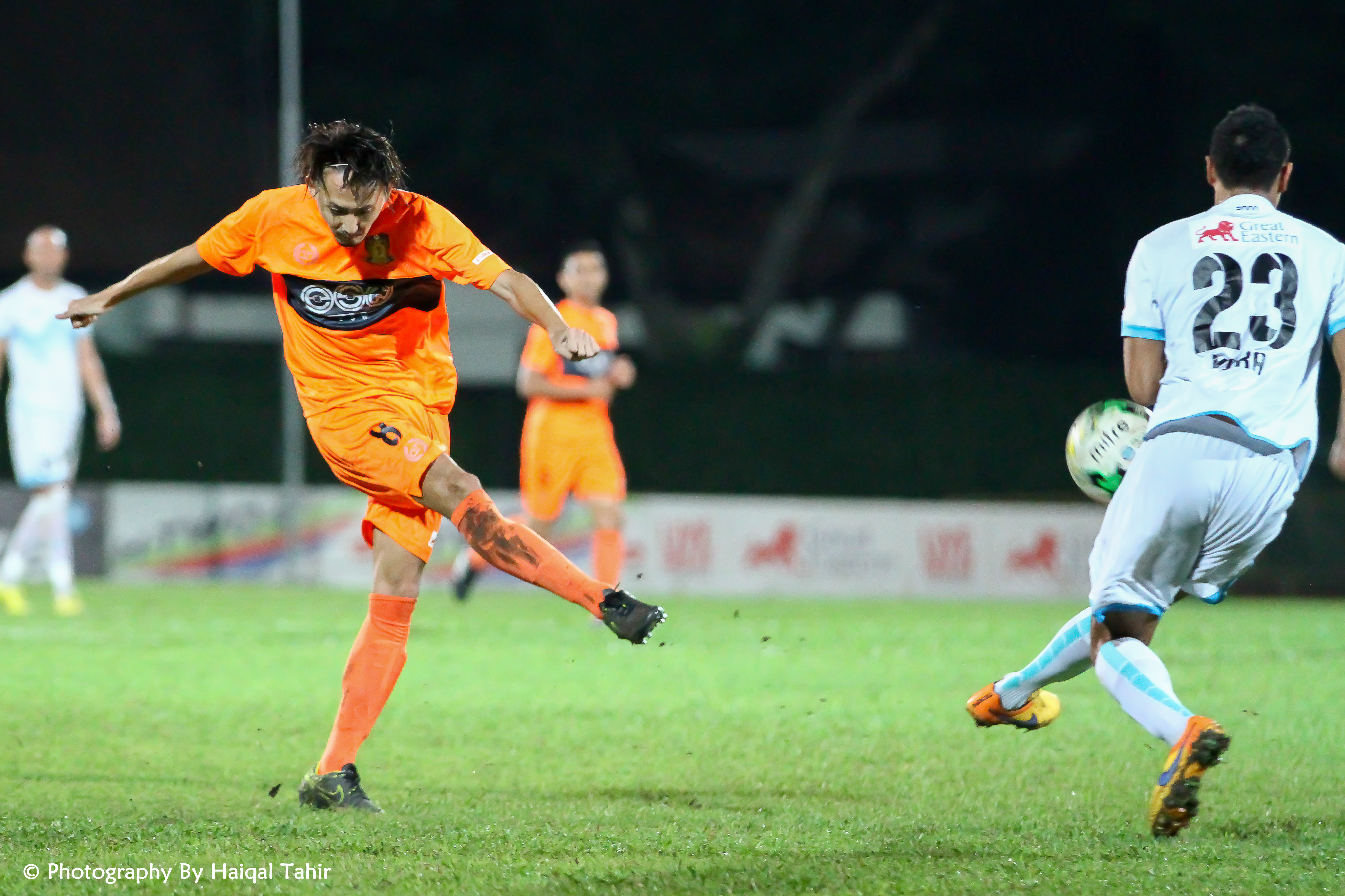 File photo: Fumiya Kogure unleashed a shot on goal against DPMM.